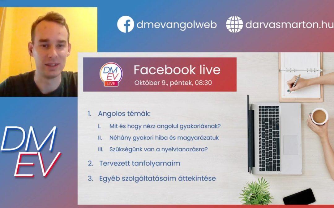 Első Facebook élő: gyakori angolos hibák | Kell-e a nyelvtan? | Tervezett tanfolyamaim
