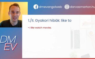 Like to do vs. Like doing | Gyakori angolos hibák I.
